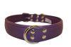 "Angel Pet Supplies - Alpine Leather Padded Dog Collar - Orchid Purple - 26"" X 1.25"""