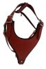Angel Pet Supplies - Malibu Classic Leather Dog Harness - Valentine Red - Medium