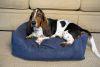 Iconic Pet - Luxury Swaddlez Bolster Pet Bed - Denim - Small