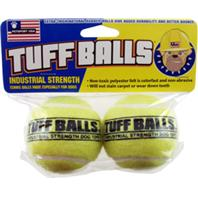 Petsport - Tuff Balls - Yellow - 2.5 Inch/2 Pack
