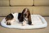 Iconic Pet - Premium Synthetic Sheepskin Handy Bed - White - XXXlarge