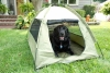 Iconic Pet - Cozy Camp Pet Tent House - Sage Green with Beige