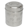 Iconic Pet - Paw Print Stainless Steel Pet/Dog Canister With Embossing - Medium