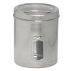 Iconic Pet - Pet Canister Side See Through/Steel Lid - Large