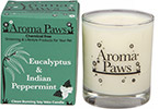 Aroma Paws - Eucalyptus Peppermint - Glass Candle In Box - 8 oz