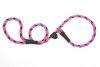 Mendota Pet - Black Ice Slip Lead - 1/2 Inch x 4 Feet - Raspberry