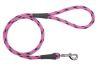 Mendota Pet - Black Ice Snap Leash - 1/2 Inch x 4 Feet - Raspberry