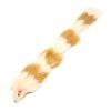 Brown/White Fur Weasel Toy
