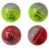 Plastic Ball with Rattle - Assorted - 1.6 Inch - 4 Pack