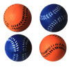 Bouncing Sponge Softball - Blue/Orange - 1.6 Inch - 4 Pack