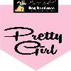 Parisian Pet Pretty Girl Dog Bandana-Medium/Large