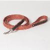 "Hound?s Best  - Large Canvas Leather Dog Leash ""Sierra"" - 6 feet"