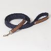 "Hound?s Best  - Large Canvas Leather Dog Leash ""Indigo"" - 6 feet"