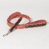 "Hound?s Best  - Medium Canvas Leather Dog Leash ""Sierra"" - 4 feet"