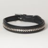 "Hound?s Best - Medium Genuine Leather Dog Collar ""Crown Clincher"""