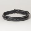 "Hound?s Best - Medium Hand Carved Leather Dog Collar ""Ponderosa"""