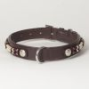"Hound?s Best - Large Beaded Leather Dog Collar ""Dakota"""