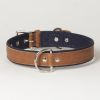 "Hound?s Best - Large Canvas Leather Dog Collar ""Indigo"""