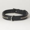 "Hound?s Best - Large Genuine Leather Dog Collar ""Crown Clincher"""