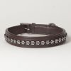 "Hound?s Best - Large Rhinestone Leather Dog Collar Swarovski ""Blossom"""