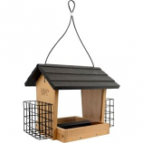 Natures Way Bird Products - Hopper Feeder With Suet Cages - Bamboo - 4 Quart Cap