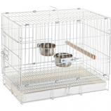 Prevue Pet Products - Bird Travel Cage - White - 20X12.5X15.5 Inch
