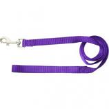 Hamilton Pet - Single Thick Nylon Lead with Swivel and Snap - Purple - 0.38 Inch x 4 Feet