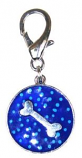 Leather Brothers - Dots Round Bone Pendant - Blue