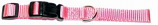"Leather Brothers - 5/8"" Kwik Klip Adjustable Collar - 10-14"" Length - Carnation Pink"