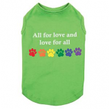 Zack & Zoey - Love for all Tank - Large - Green