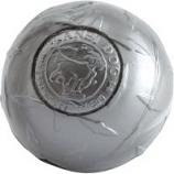 Planet Dog -Usa Diamond Plate Super Tuff Ball Dog Toy - Gray - 3 Inch