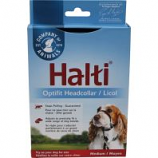 The Company Of Animals -Halti Optifit Headcollar Includes Training Dvd - Black/Red - Medium/15-20 In