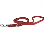 "Leather Brothers - 3/4"" Signature European Leather Lead - Red - 6 Feet"