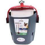 Petmate - Clean Response Swivel Bin And Rake - Gray/Red - 9.75X4.75X13 In