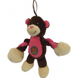 Charming Pet Products - Baby Pulleez Monkey Dog Toy - Brown - Small/7 Inch