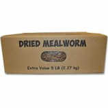 Unipet - Mealworms To Go Dried Mealworms - 5 Lb