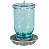Woodstream Wildbird - Mason Jar Wild Bird Waterer - Light Blue - 32 Ounce