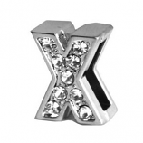 Leather Brothers - Jewel Slider Letter X - 2 Pkg