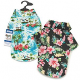 Casual Canine - Hawaiian Breeze Camp Shirt - XSmall - Black