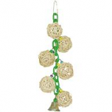 A&E Cage Company - Hb Six Vine Balls On Chain W/Bell - Green