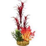 Blue Ribbon Pet Products -Color Burst Florals Blade Grass Plant - Red - Large