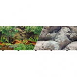 Blue Ribbon Pet Products - Background Double - Sided Rainforest/Boulders - 12In X 50Ft