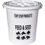 Tuff Stuff Products - Feed Storage Drum With Locking Lid -White -26 Gallon