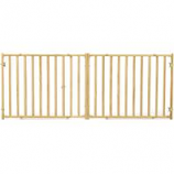 Midwest Homes For Pets - Extra-Wide Wood Pet Gate - Natural - 24 H x 50.25 - 94