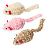 Ethical Cat - Chenille Chaser Mouse Cat Toy - Assorted - 2 In