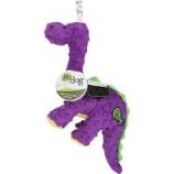 Quaker Pet Group -Godog Dinos Bruto Durable Plush Squeaker Dog Toy - Purple - Small