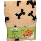 Van Ness Plastic Molding - Dri-Fleece Pet Bedding With Bones - Tan - 30 X 40 Inch