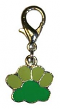 Leather Brothers - Charm Enamel Paw Pendant - Green