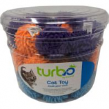 Coastal Pet Products -Turbo Mop Balls Cat Toy Canister - Multi - 36 Piece