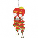 A&E Cage Company - Hb Wooden Apple Toy - Multi - Large
